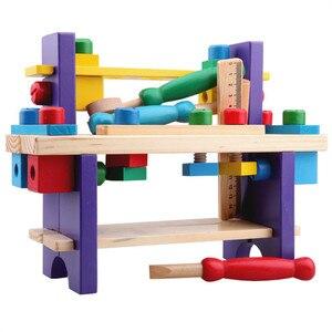 Sukitoy деревянная игрушка Детские Мягкие сборки Конструкторы набор инструментов Ролевые игры классический подарок игрушки для мальчиков ран...