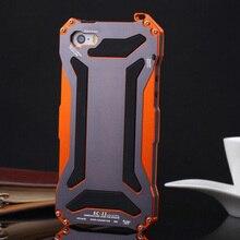 Роскошные Противоударный Водонепроницаемый Мощная Защита Алюминиевый Gorilla Glass Металлической Крышкой Сотовый Телефон Чехол Для чехол на айфон 5s 5 SE