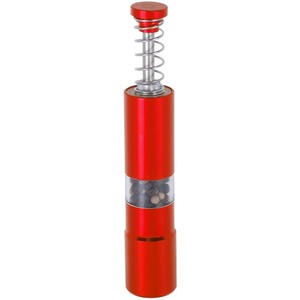 Image 3 - Hand Driven Metal Pepper Grinder/Salt Mill&Muller,Portable Thumb Push Aluminium Case,Stainless Steel Core