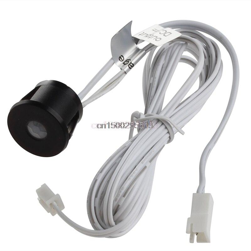 Interruptor DC 12 V LED PIR cuerpo infrarrojo Sensor de movimiento interruptor automático On Off tira nuevo