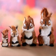 1PCS Virtual Squirrel Pet Animal Toy Decoration Model Birthday For Boys And Girls Holiday Gift