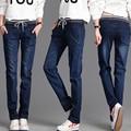 Winter Warm thick velvet skinny jeans Pants for woman Plus size Blue demin trousers Skinny ladies pants Femme Pantalon MZ939