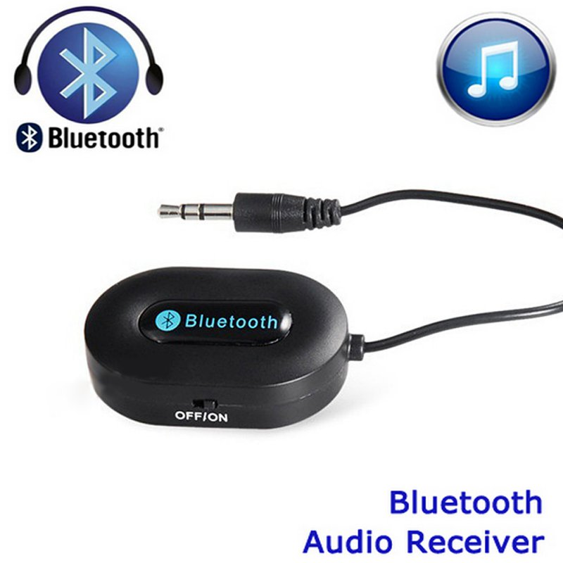 3 5mm Bluetooth 3 0 Car Home Music Audio Stereo Receiver Adapter Transmitter Black White Hot