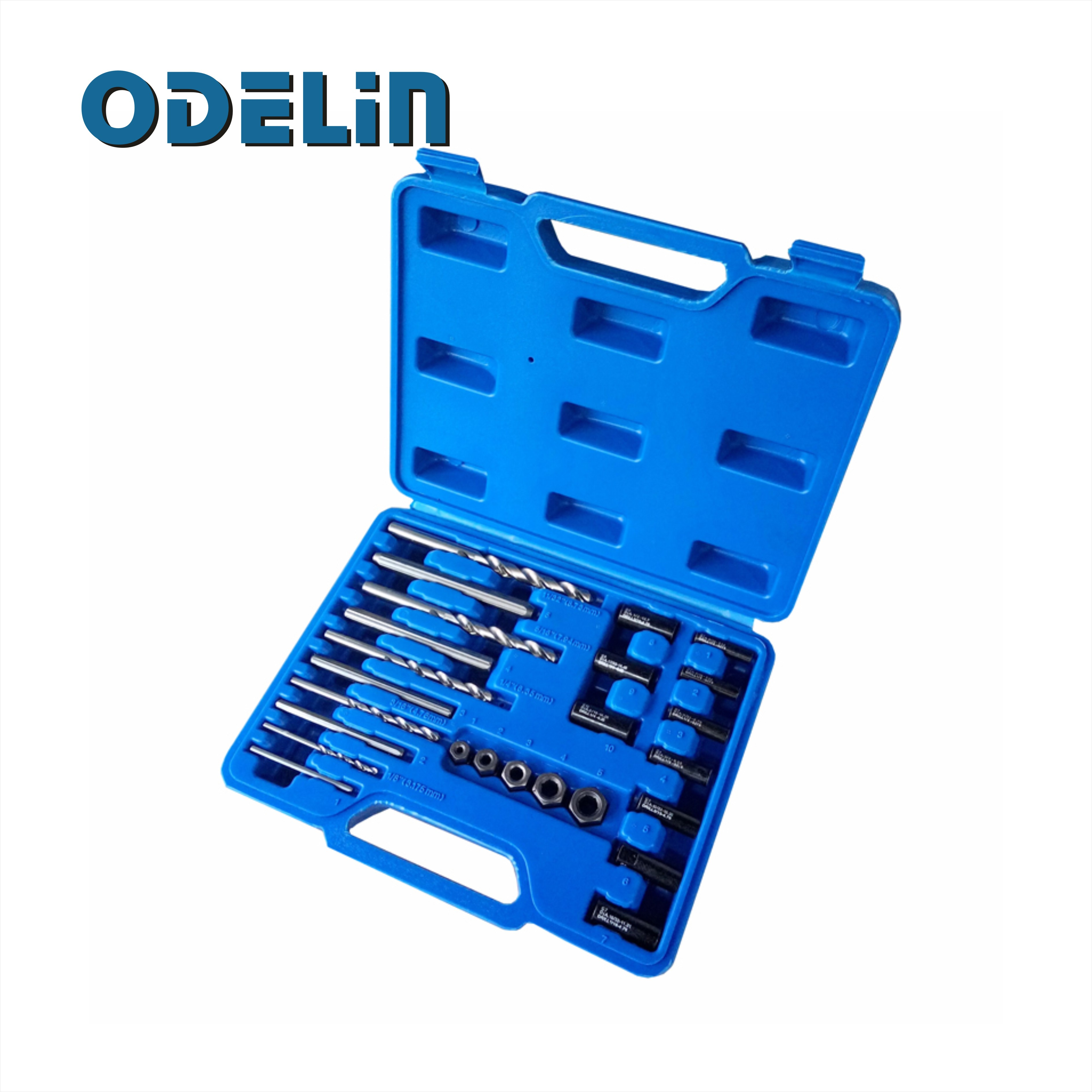 Screw Extractor Drill Guide 25pc Set Remove Broken Screw Bolts Fastners Easy Out