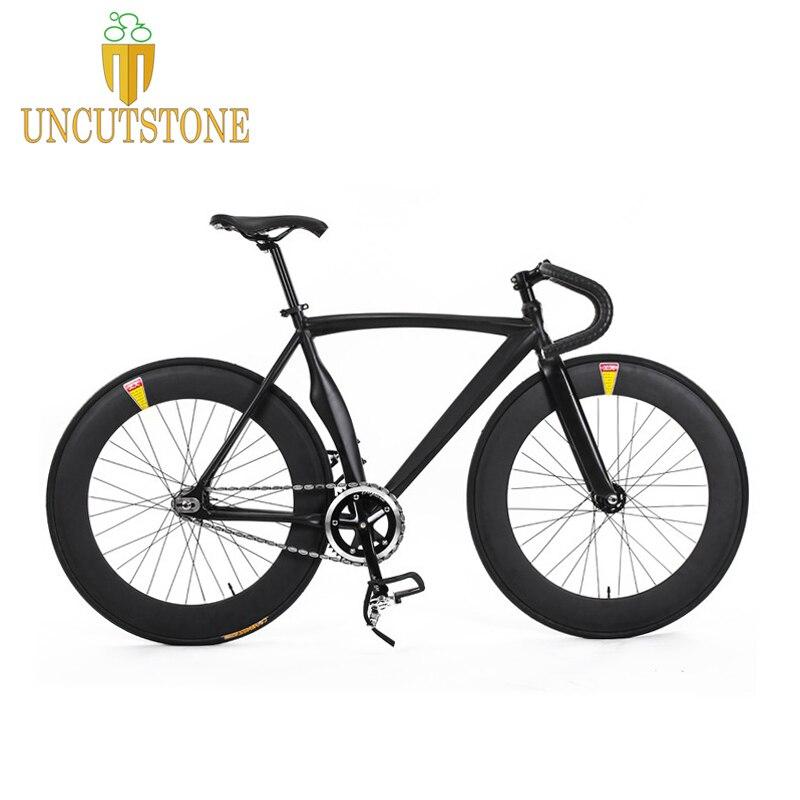 Fixed Gear Bike Fixie Frame 53cm  DIY 700C  Aluminum Alloy Bike Track Bike Bicycle 70mm Rear And Front Wheel Bike