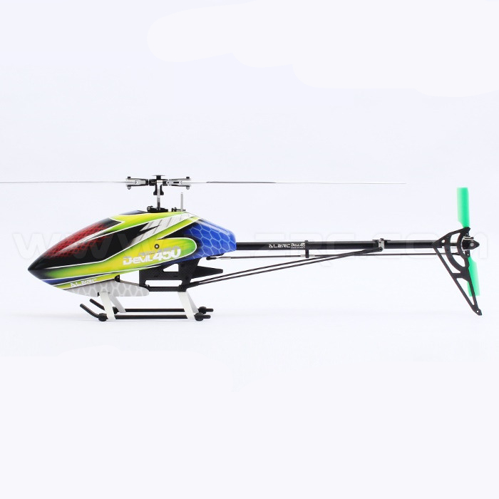 ALZRC - Devil 450 RIGID SDC/DFC KIT 450 RC Helicopter - Black alzrc devil 500 pro sdc dfc brushless esc motor carbon fiber structure 3300mah battery flybarless gyro system rc helicopter kit