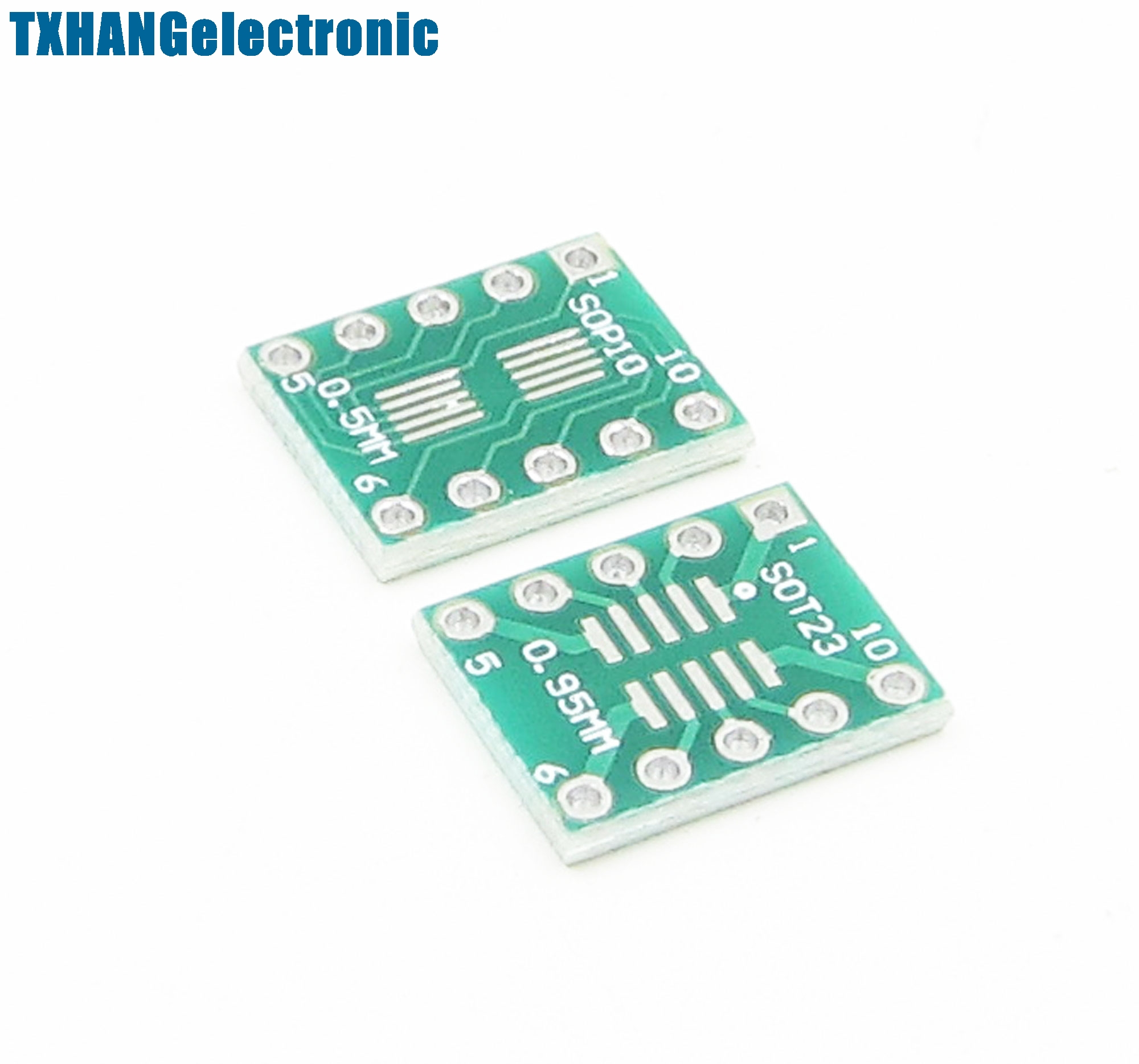 10PCS SOT23 SSOP10 MSOP10 DIP10 0.5//0.95mm Adapter Breakout PCB Converter Board