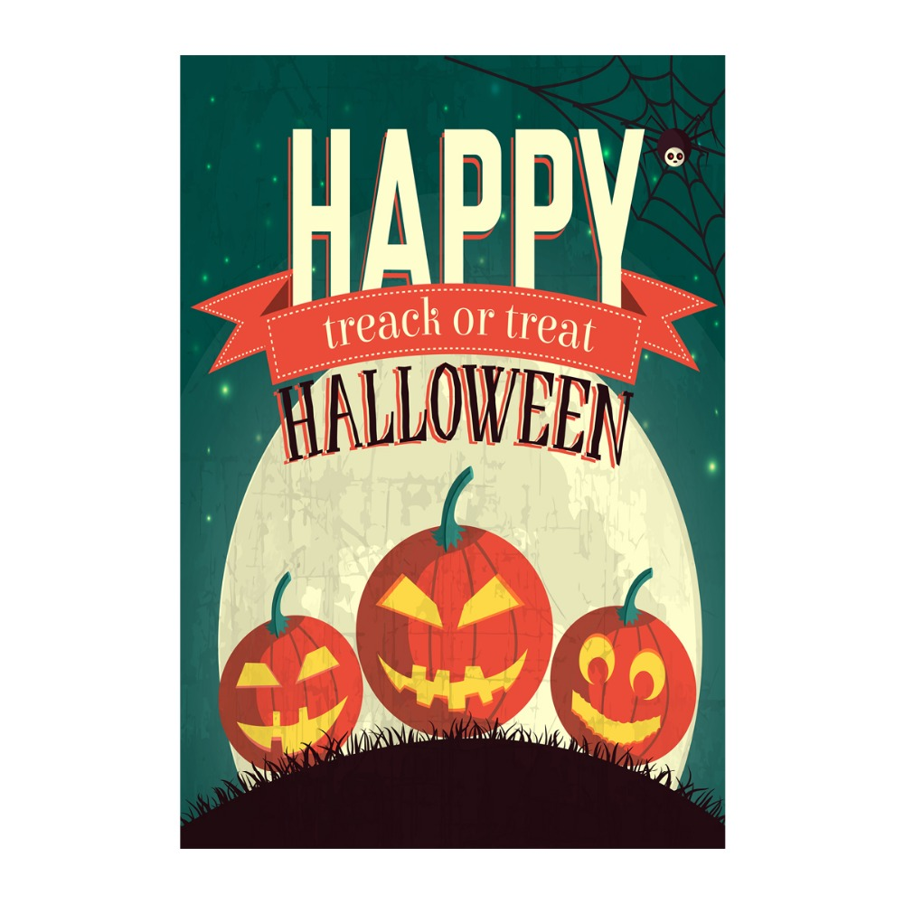halloween garden flags time treack or treat designed with double