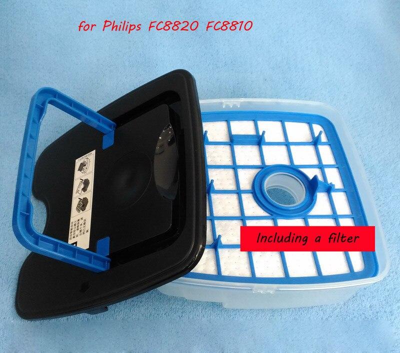 все цены на 1 Pcs Dust Box + 1 Pcs Filter for Philips Robot FC8820 FC8810 Robot Vacuum Cleaner Parts Accessories Original Authentic онлайн