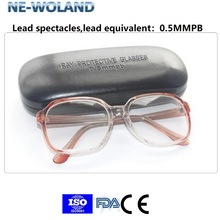 Medical lead spectacles, X-ray protection glasses, interventional surgery radiation protection lead glasses with 0.5mmpb. цена