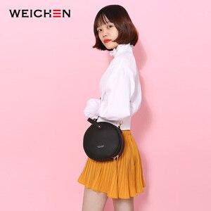 Image 4 - Bolso de hombro de piel con diseño Circular para mujer, bandoleras cruzadas, redondo