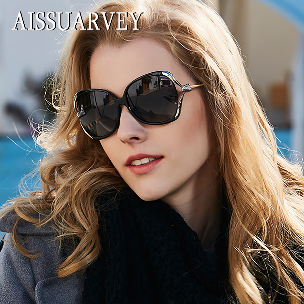 2019 Oversize Acetate Fashion Polarized Sunglasses for Woman Top Quality Girls Lady Brand Butterfly Goggles Driving