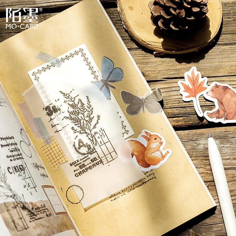 46pcs//pack Autumn Forest Decorative Stickers DIY Diary Scrapbook Sticker