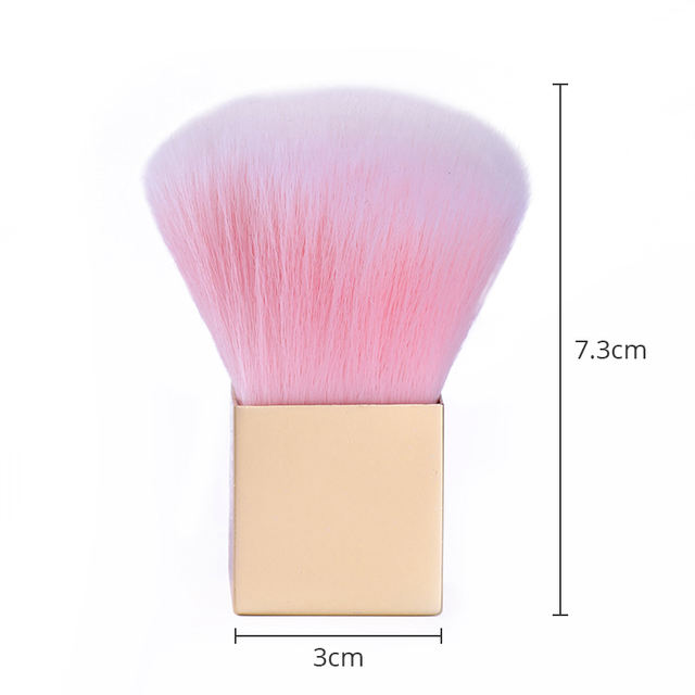 1 PC Professional  Nail Cleaning Brush Soft Pink Brush Powder Brush Makeup Powder Remover Brush Cosmetic Makeup Tool