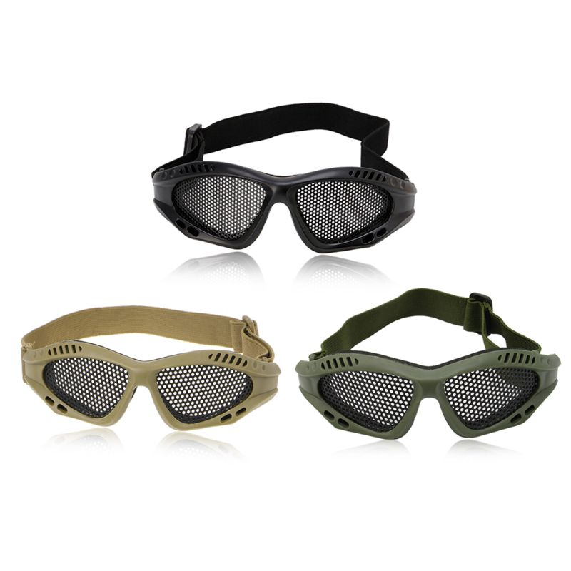 Outdoor Eye Protective Comfortable Airsoft Safety Tactical Glasses Goggles Anti Fog With Metal Mesh 3 Colors UNS-OKLE