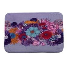 Hongbo Contemporary Rugs Carpet Practical Boutique Mats for Diningroom Bedroom Livingroom Kids Room Purple Flower Butterfly