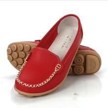 Shoes Woman Genuine Leather Women Shoes Flats 6 Colors Loafers Slip On Women's Flat Shoes Moccasins Plus Size