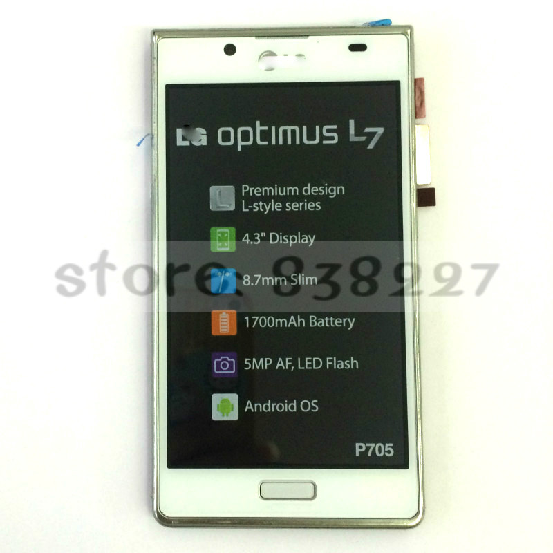 ФОТО For LG Optimus L7 Swift L7 Venice P700 P705 LCD Display Touch Screen Digitizer + Frame Assembly 2pcs in stock