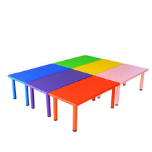 Children Tables kindergarten plastic kids Furniture hot new kids table wholesale kids study table desk minimalist 120*60*50 cm(China)