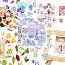 46pcs/pack Kawaii Creative Dogs Squirrel Stickers Paper Bird Weather Decoration Diary Scrapbooking School Supplies