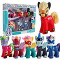 My Little horse Toys Friendship is Magic Rainbow Dash Pinkie Pie Lyra Heartstring Rarity PVC Action Figure Collectible Model Dol