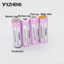 Recarregável para Lanterna Original 18650 Icr18650-26f Li-ion Bateria Tocha Botão Superior Plana Abas Protegido Batterie