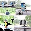 Auto Car Windshield Painel Duplo Clipe 360 Flexível Suporte Suporte de Montagem para iphone 5s 6 6 s plus samsung galaxy s4 s5 s6 s7 note