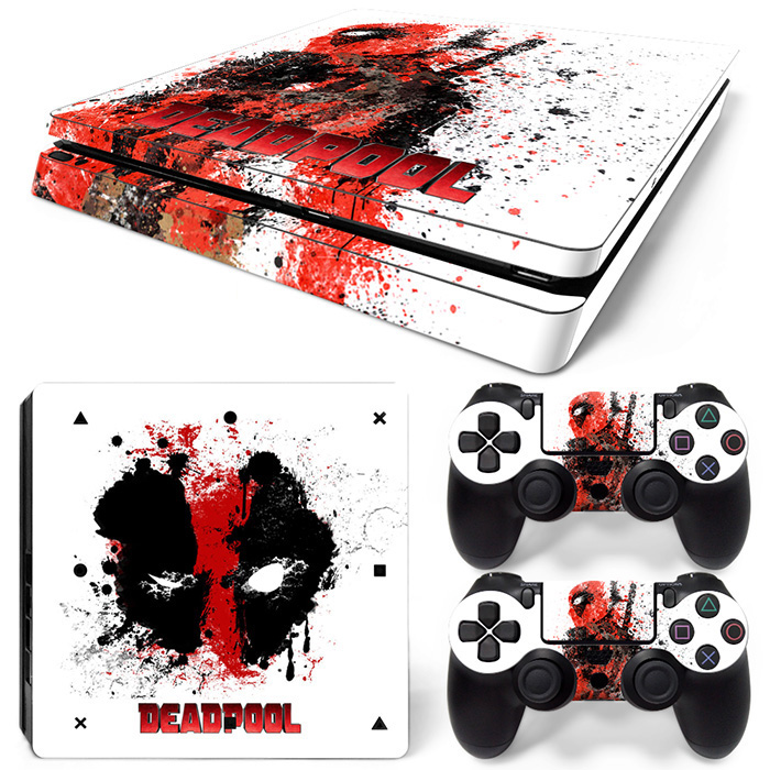 Deadpool Vinyl Decal PS4 Pro Skin Sticker For Sony Playstation 4 Pro Console & 2 Controllers Decorative Skins