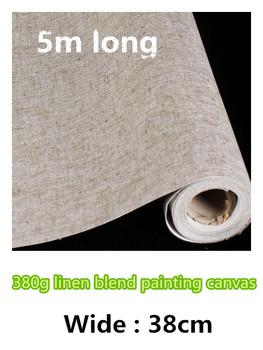 38 cm wysokiej jakości artysta płótno płótno roll tkanina bawełniana płócienna rolki mieszanka bawełny i lnu płótno roll tanie i dobre opinie Malarstwo na płótnie colormaker 3 lata LB-380 canvas white primed linen blend 380gsm 0 44mm Acid Free Acrylic Priming