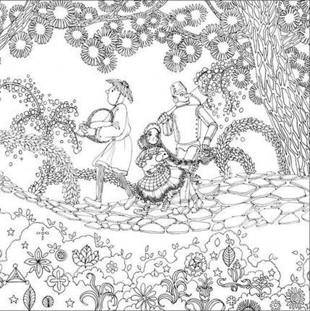 Tienda Online El Mago de Oz 3 jardín secreto libro para colorear ...