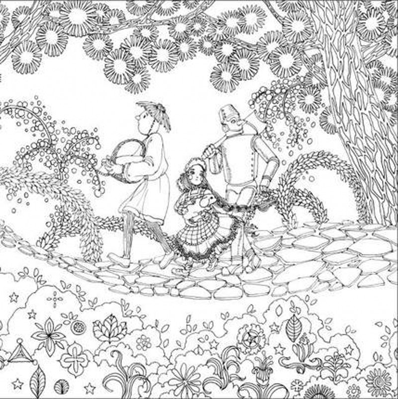 The Wizard of Oz 3 Secret Garden Coloring Book For Adults Children ...