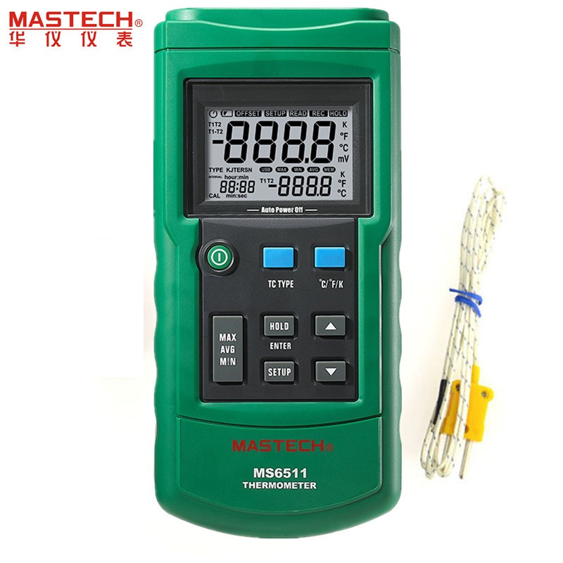 MASTECH MS6511 Single Channel Digital Thermometer J,K,T,E Thermometer Thermocouple Type Temperature Detector 马克思的人学理论