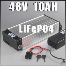 48V 10AH LiFePO4 Батарея 48V 1000W задний стеллаж для выставки товаров lifepo4 долгий жизненный цикл Батарея