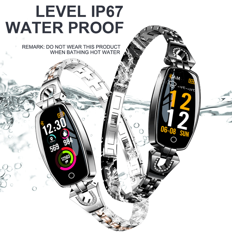 H8 Fashion New Smart Watch Women Waterproof Heart Rate Monitoring Bluetooth For Android IOS Fitness Bracelet Smartwatch