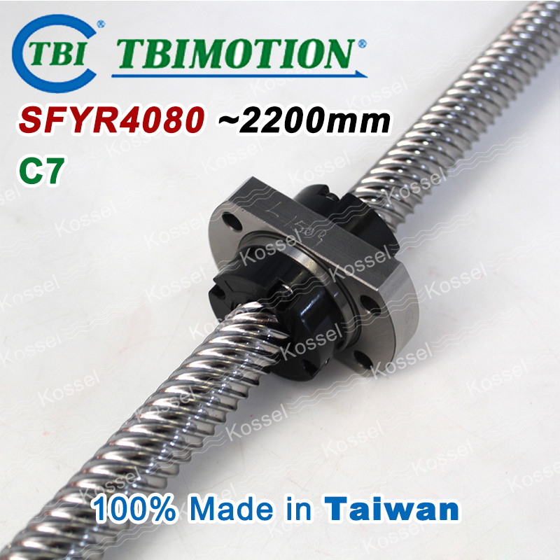 TBI 4080 C7 2200mm ball screw 80mm lead with SFY4080 ballnut of SFY set end machined for high precision CNC diy kit tbi 2510 c3 620mm ball screw 10mm lead with dfu2510 ballnut end machined for cnc diy kit dfu set