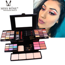MISS ROSE 39 Color Eyeshadow 6 Colors Blush 4 Color Powder Eye Shadow Glitter Eyeshadow Pallete Makeup Box Cosmetic Case