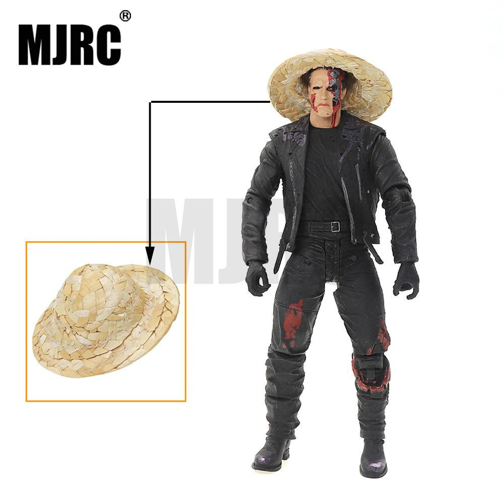 MJRC 1/10 Simulation Climbing Car Simulation Doll Personalized Decoration Bucket Straw Hat TRX4 SCX10 D90 AXIAL 90047 D110