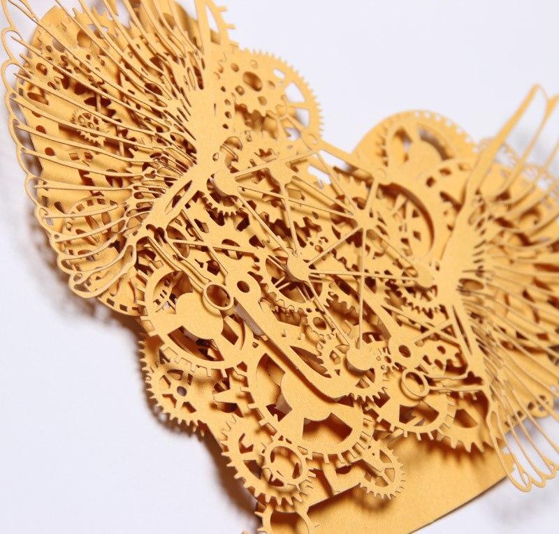 3D montado modelo de papel hecho a mano DIY tallado Corazón del ...