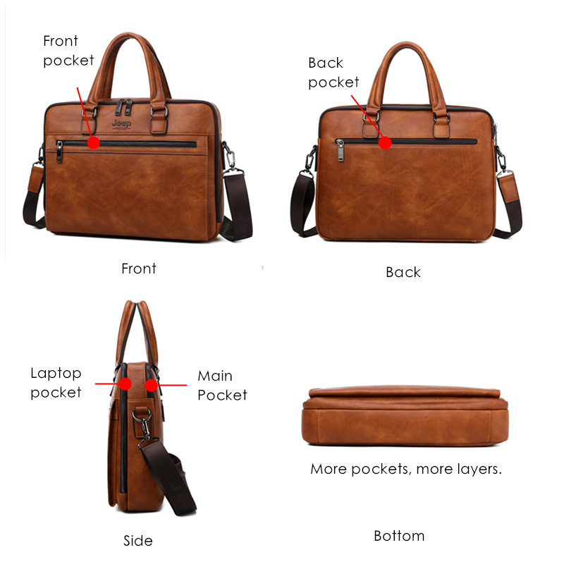 Brand Men Business Briefcase Bags 1
