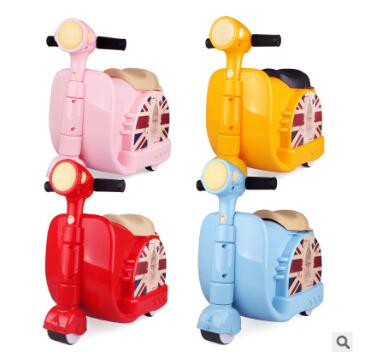 Ride on Suitcase for kids Riding suitcase for boys Children Car Suitcase for baby Children Travel Trolley Rolling luggage bags