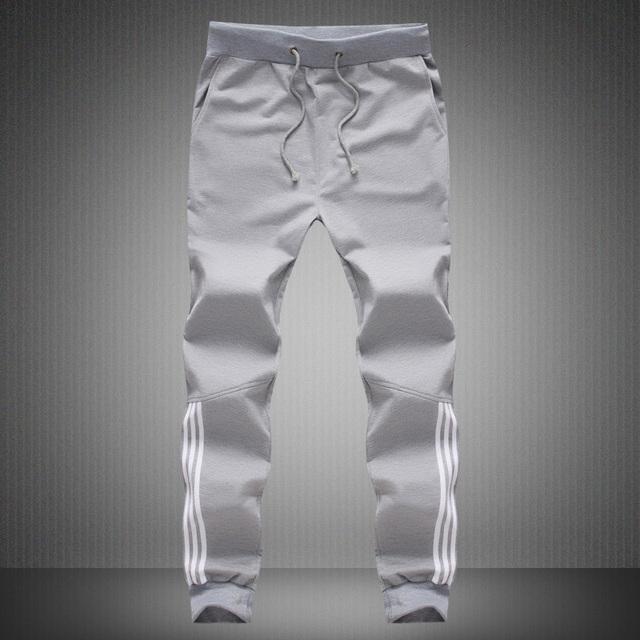 Mens Joggers 2017 ejercicios Activos Pantalones Casuales pantalones de Chándal de Algodón Gris Hombres de La Cintura Elástico flojo pantalones hombre tallas grandes 5XL