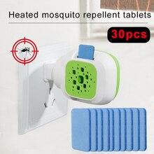 Портативный электрический USB москитный нагреватель репеллента против комаров убийца вредителей муха 30 шт. таблетки от комаров ошибка Таблица сна