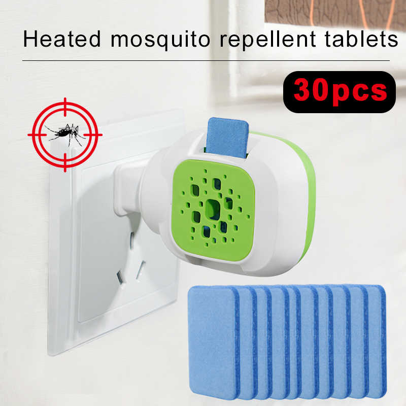 Portable Electric USB Mosquito Repellent Heater Anti Mosquito Killer Pest Fly 30PCS Mosquito Repellent Tablet Bug Table Sleep