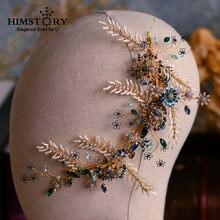 Новинка 2019 роскошные шиньоны с синими кристаллами корона тиара