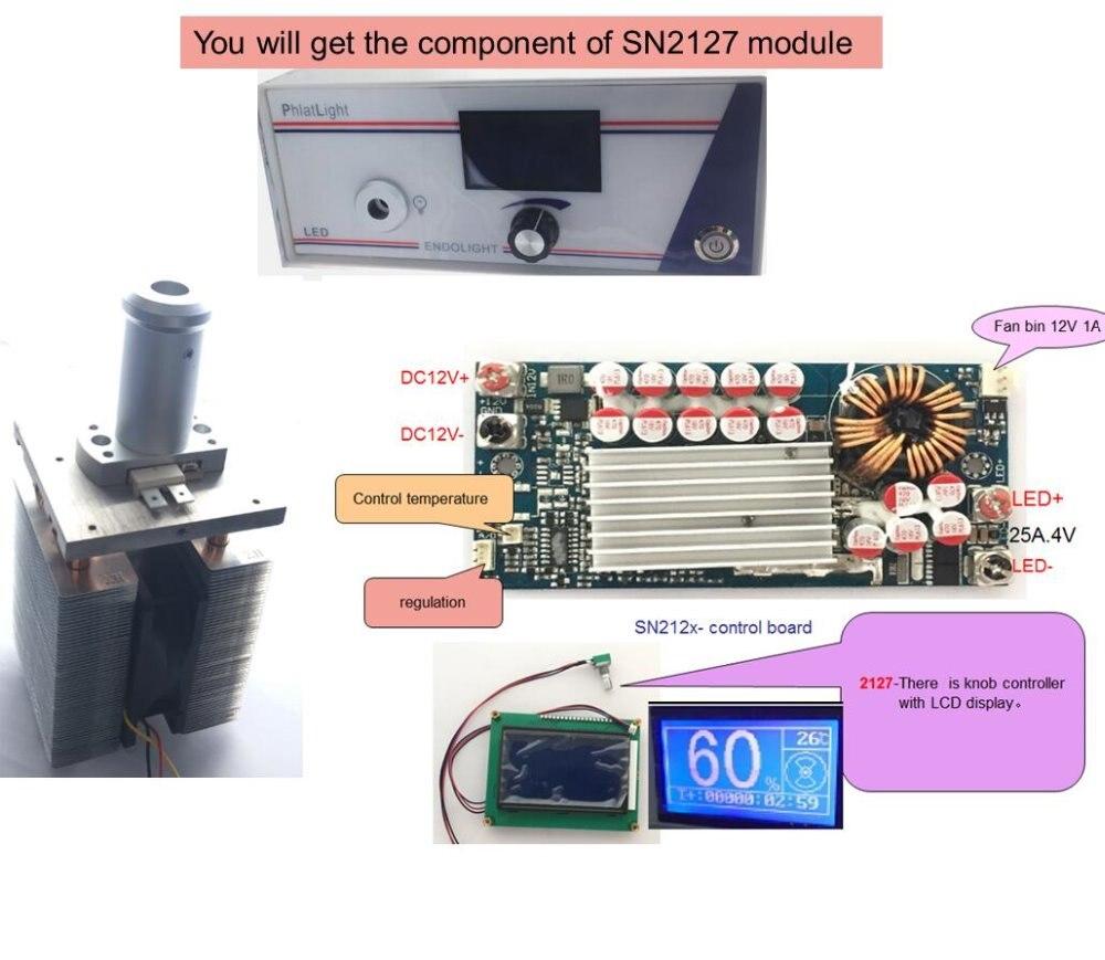 Endoscope LED lamp120W laparoscopie lumière source phlatlight cbt140 contrôleur Bouton LCD affichage SN2127