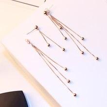 Модные ювелирные изделия стильные длинные серьги с кисточками