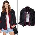 Cool Fashion Basic Bomber Jacket Women Denim Jacket coat Buttons Design Women Biker Outwear Overcoats Autos High Quality S2825