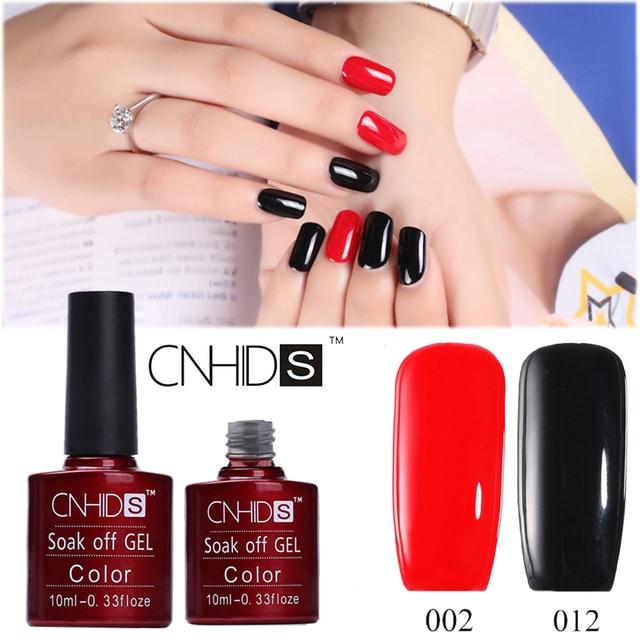 Cnhids Black Red Gel Nail Polish 8ml Uv Long Lasting Soak