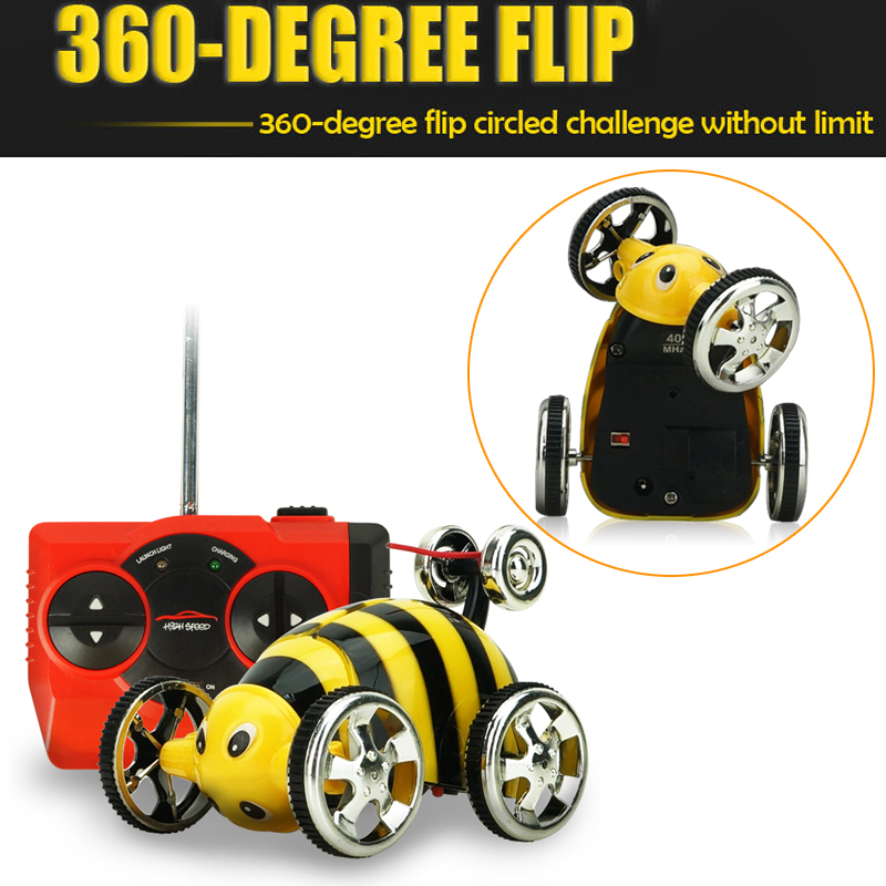 360 Rolling Rotating RC Car 4Wd Insect Model Toy Cars Remote Control Car for Children Gift Radio Controlled Machine Stunt Car