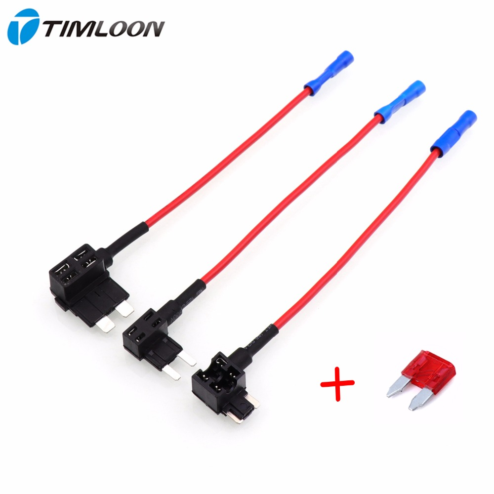 2pcs Car Automobile Beauty Fuse Box Blade Electric Appliance Holder Car  Accessories Add Circuit with 10A32V
